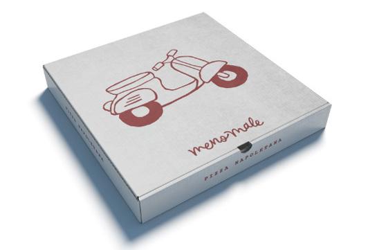 Pizzakartonger med tryck går att få i såväl vitt som brunt utförande och i vilken storlek som helst,