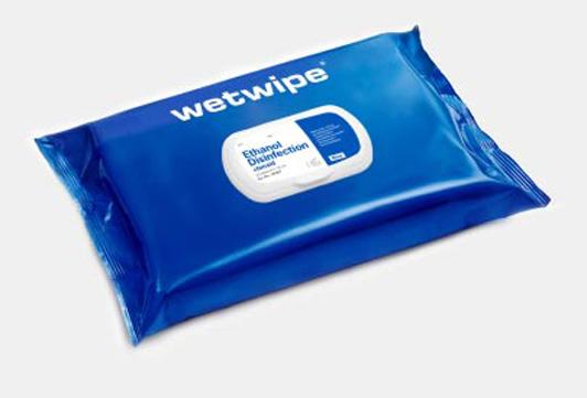 Multipack våtservetter i återslutningsbar behållare är enkelt att använda, praktiska och lätta att ha med sig. Våtservetter med tryck